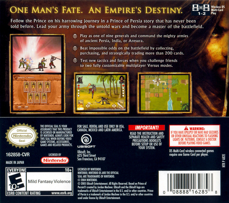 Battles of Prince of Persia DS backHQ (AB2E)