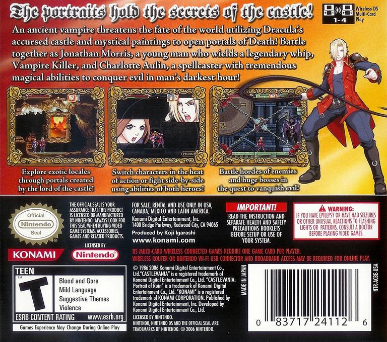 Castlevania - Portrait of Ruin DS backHQ (ACBE)