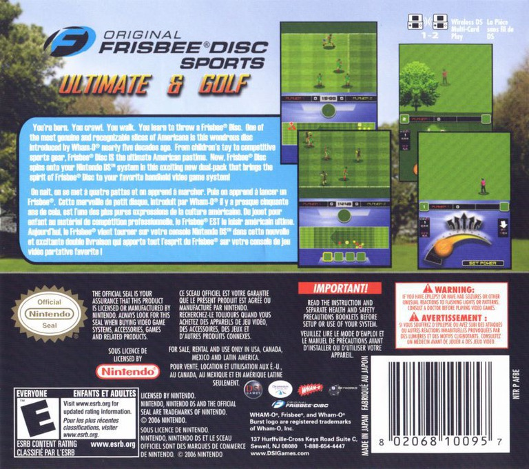 Original Frisbee Disc Sports - Ultimate & Golf DS backHQ (AFBE)
