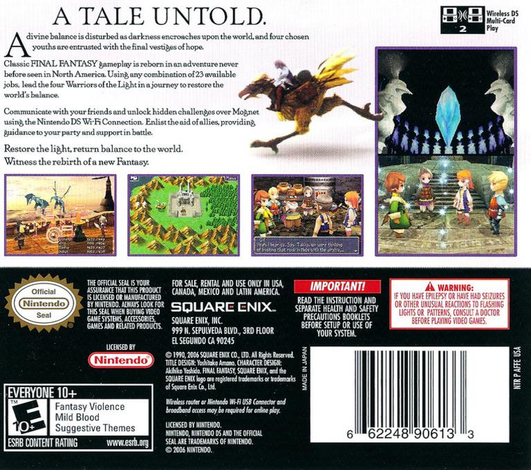 Final Fantasy III DS backHQ (AFFE)