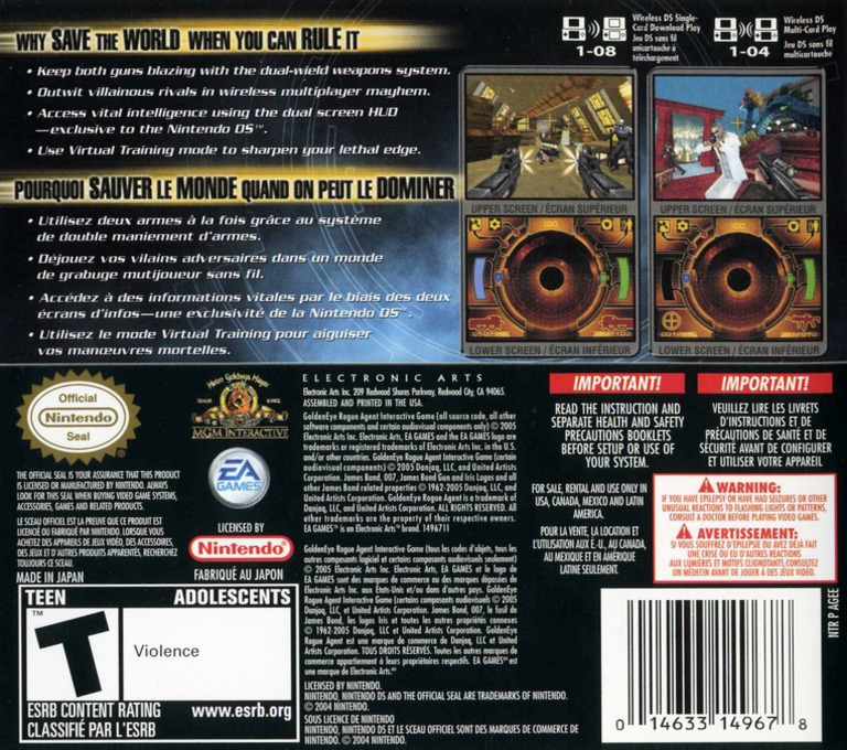 GoldenEye - Rogue Agent DS backHQ (AGEE)
