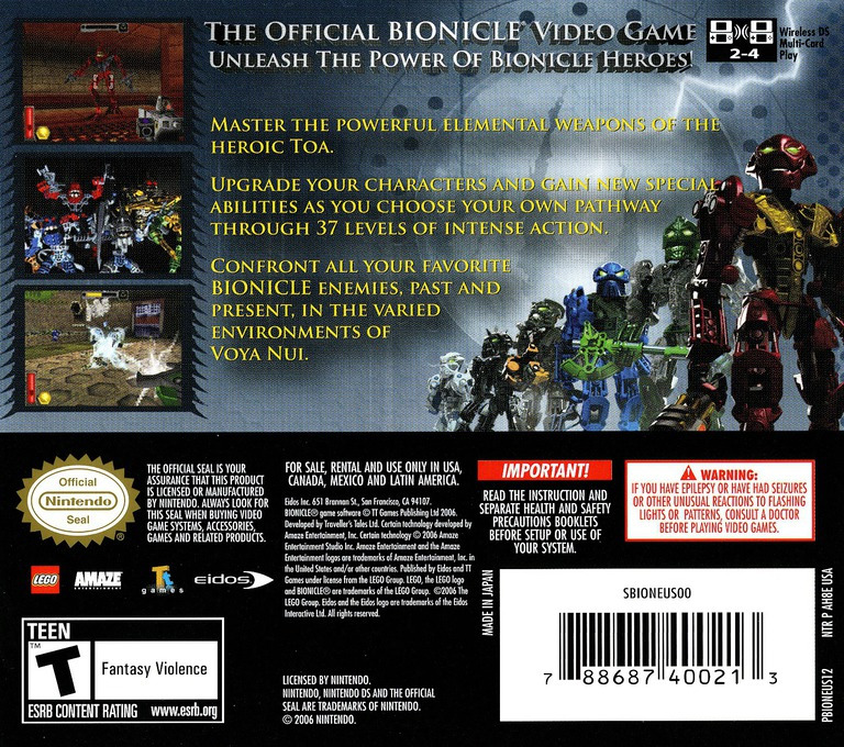 Bionicle Heroes DS backHQ (AH8E)