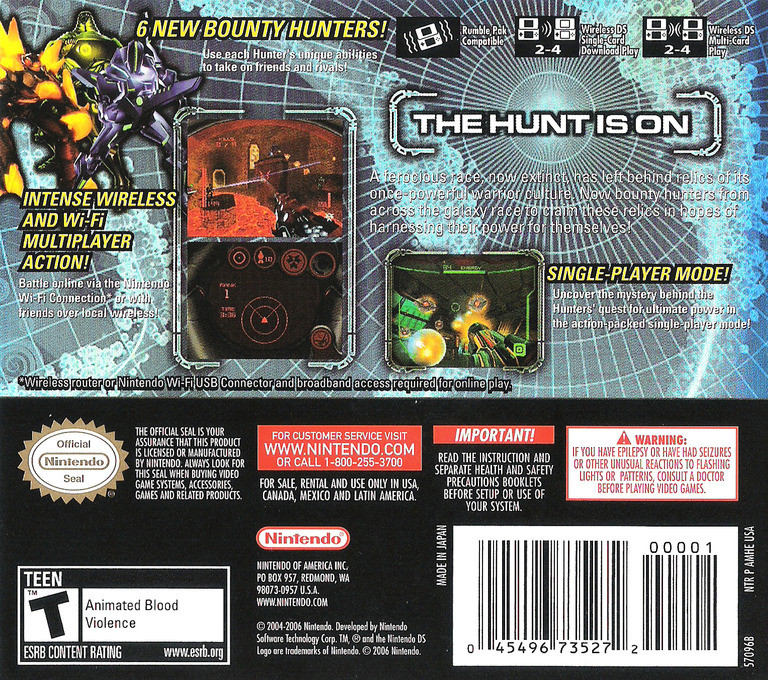 Metroid Prime - Hunters DS backHQ (AMHE)