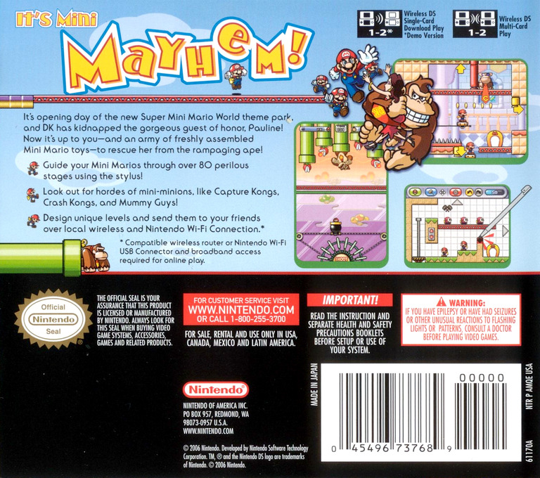 Mario vs. Donkey Kong 2 - March of the Minis DS backHQ (AMQE)