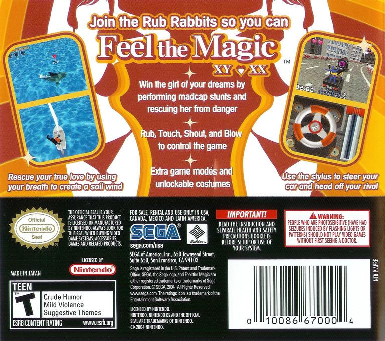 Feel the Magic - XY XX DS backHQ (APRE)