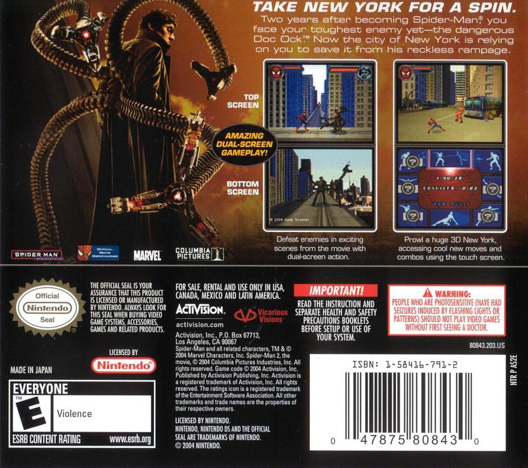 Spider-Man 2 DS backHQ (AS2E)