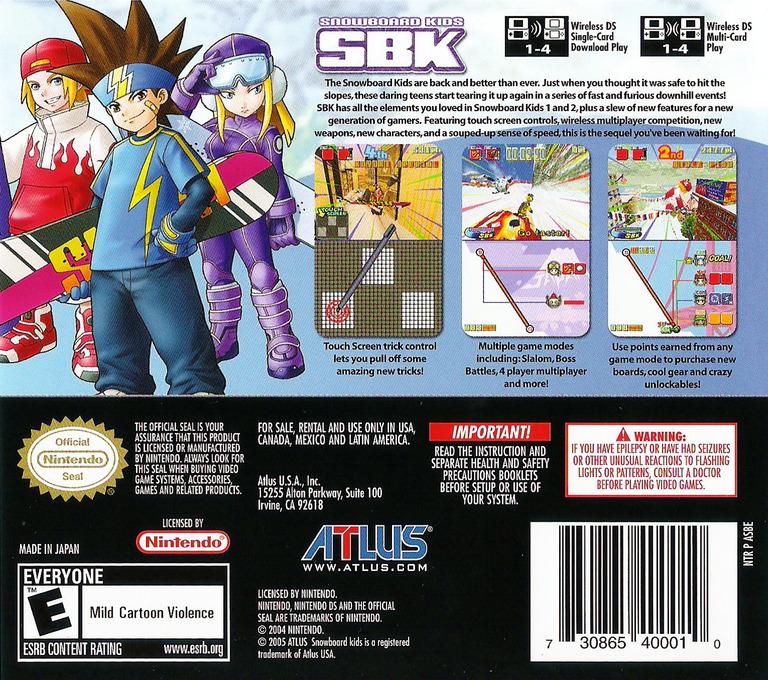 SBK - Snowboard Kids DS backHQ (ASBE)