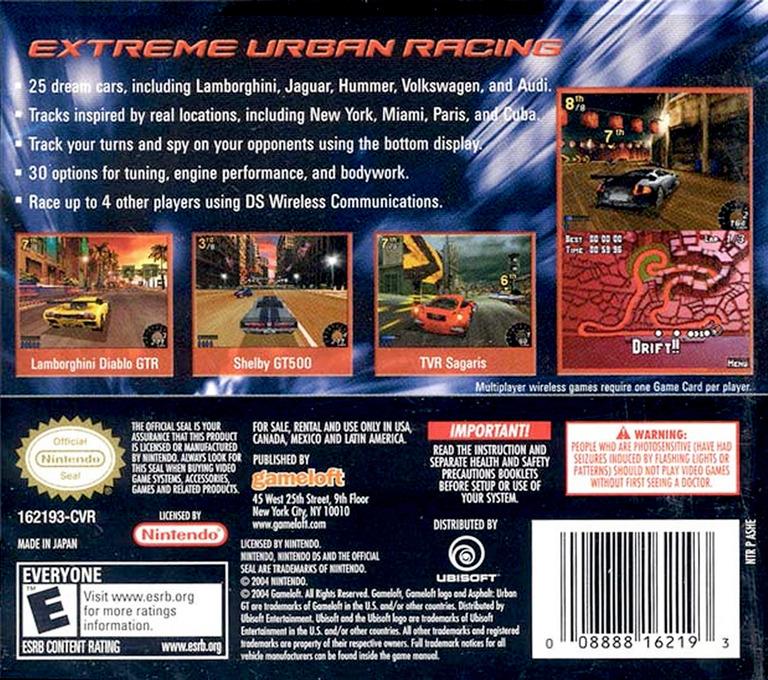 Asphalt - Urban GT DS backHQ (ASHE)