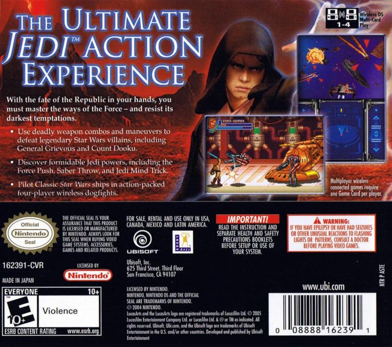 Star Wars - Episode III - Revenge of the Sith DS backHQ (ASTE)