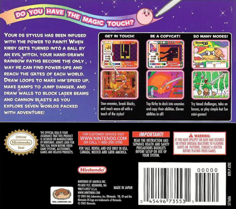 Kirby - Canvas Curse DS backHQ (ATKE)