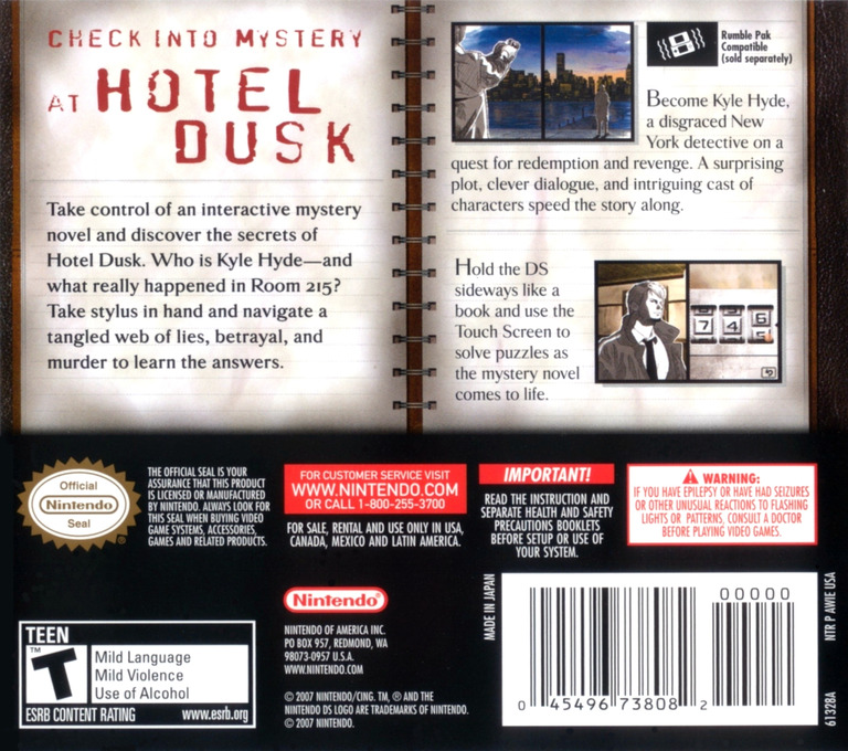 Hotel Dusk - Room 215 DS backHQ (AWIE)
