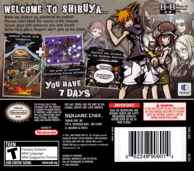 The World Ends with You DS backHQ (AWLE)