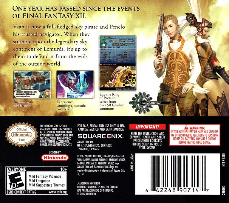 Final Fantasy XII - Revenant Wings DS backHQ (AXFE)