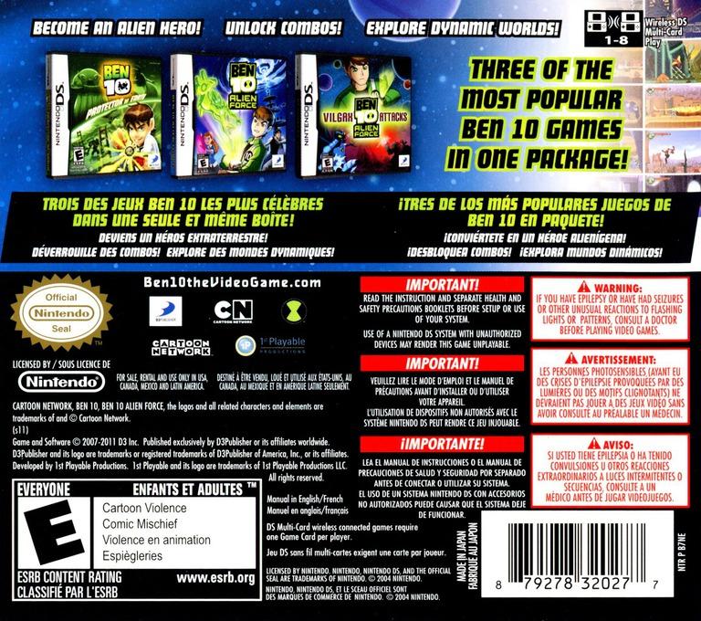 Ben 10 Triple Pack DS backHQ (B7NE)