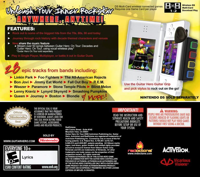 Guitar Hero - On Tour - Decades DS backHQ (CGSE)