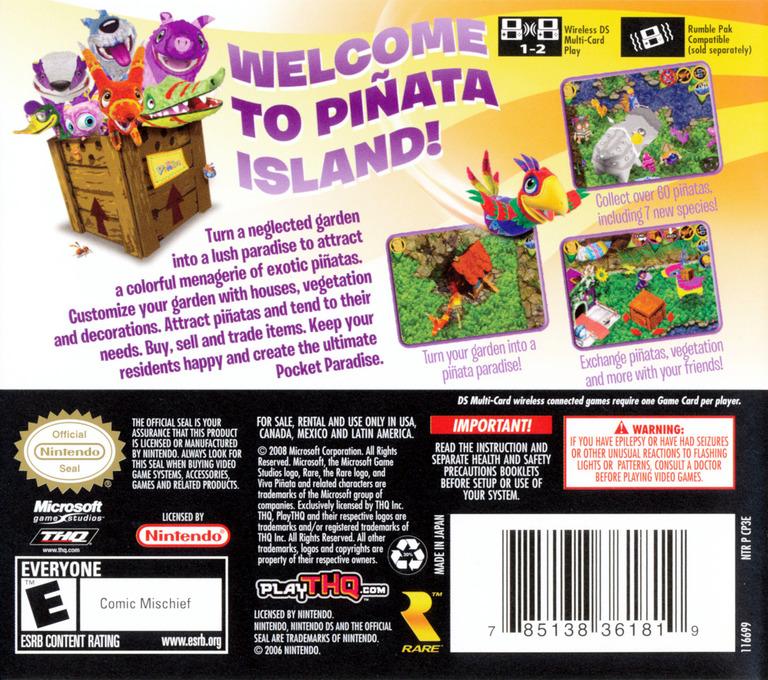 Viva Pinata - Pocket Paradise DS backHQ (CP3E)