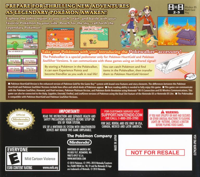 Pokémon - HeartGold Version DS backHQ (IPKE)