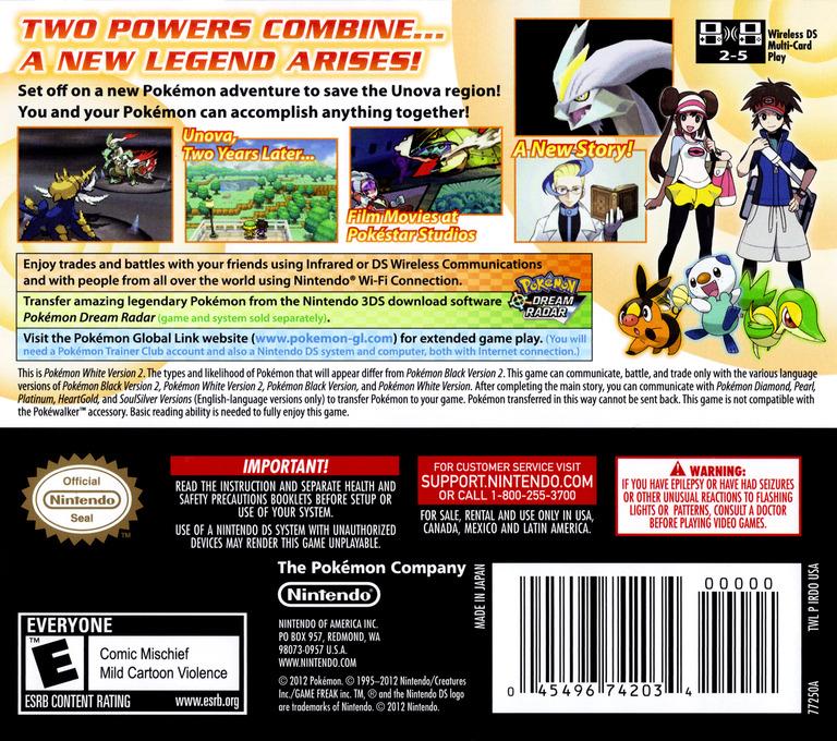 Pokémon - White Version 2 DS backHQ (IRDO)
