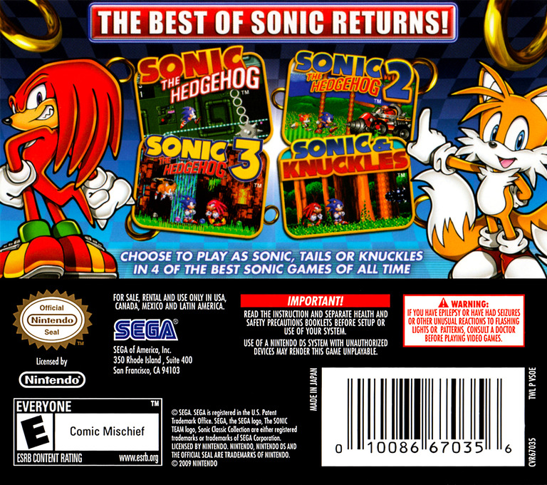 Sonic Classic Collection DS backHQ (VSOE)