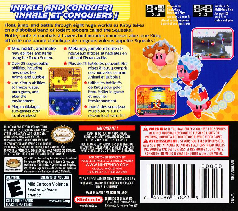 Kirby - Squeak Squad (Demo) DS backHQ (Y2ME)