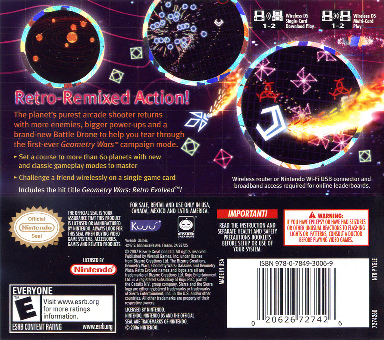 Geometry Wars - Galaxies DS backHQ (YGLE)