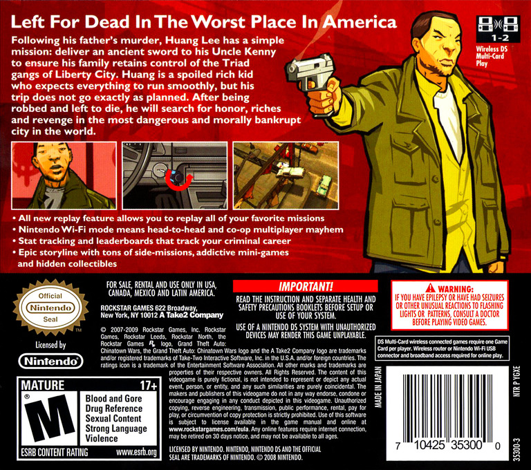 Grand Theft Auto - Chinatown Wars DS backHQ (YGXE)