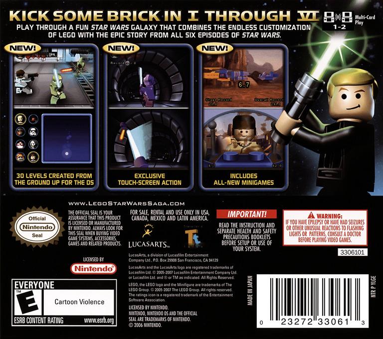 LEGO Star Wars - The Complete Saga DS backHQ (YLGE)