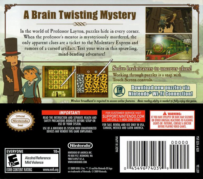 Professor Layton and the Diabolical Box DS backHQ (YLTE)