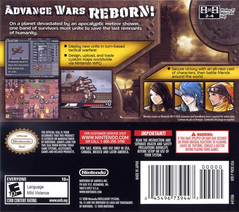 Advance Wars - Days of Ruin DS backHQ (YW2E)