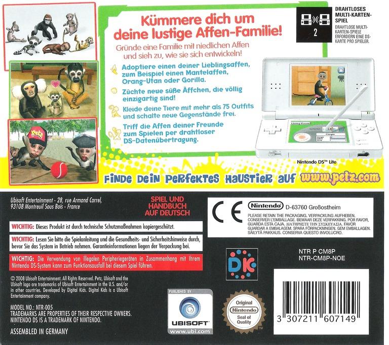 Petz - Meine Affen-Fanilie DS backHQ2 (CM8P)