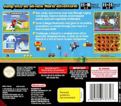 New Super Mario Bros. DS backM (A2DP)