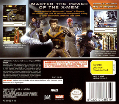 X-Men - The Official Game DS backM (A3XP)