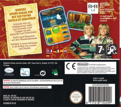 Hotel Zack & Cody - Kreis der Spione DS backM (A3HP)