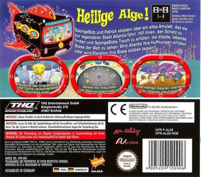 SpongeBob's Atlantisches Abenteuer DS backM (AL3X)