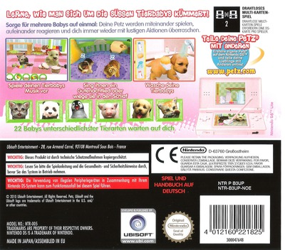 Petz - Tierbaby-Schule DS backM (B3UP)