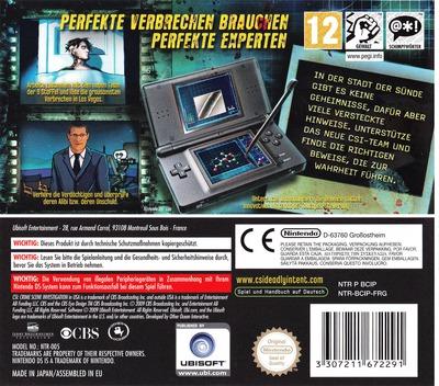CSI - Crime Scene Investigation - Tödliche Absichten - Die Geheimen Fälle DS backM (BCIP)