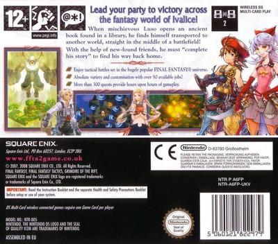 Final Fantasy Tactics A2 - Grimoire of the Rift DS backM (A6FP)