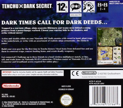 Tenchu - Dark Secret DS backM (ACUX)