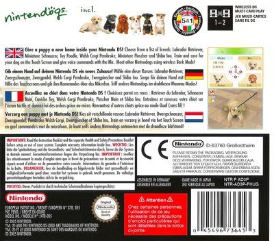 Nintendogs - Labrador & Friends DS backM (AD3P)