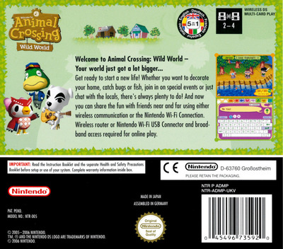 Animal Crossing - Wild World DS backM (ADMP)