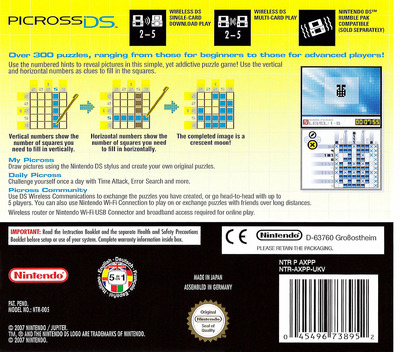 Picross DS DS backM (AXPP)