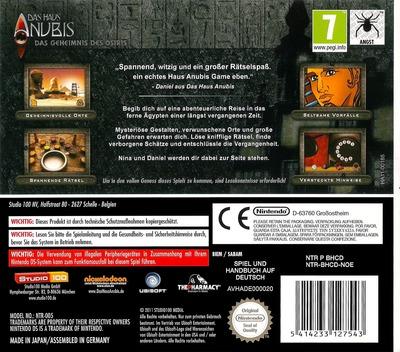 Das Haus Anubis - Das Geheimnis des Osiris DS backM (BHCD)