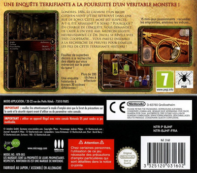 Dr. Jekyll & Mr. Hyde - Enigmes & Objets Caches DS backM (BJHF)