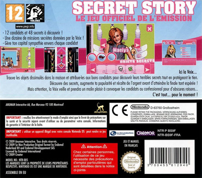 Secret Story - Le Jeu Officiel de l'Emission DS backM (BS9F)