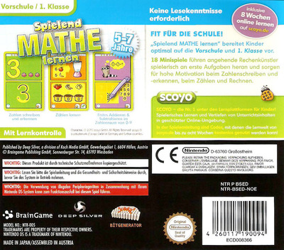Spielend Mathe Lernen DS backM (BSED)