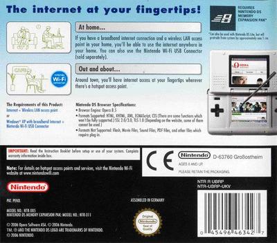 Nintendo DS Browser DS backM (UBRP)