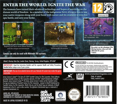 James Cameron's Avatar - The Game DS backM (VAVV)