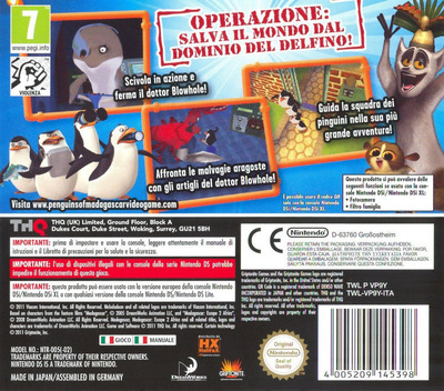 The Penguins of Madagascar - Dr. Blowhole Returns Again! DS backM (VP9Y)
