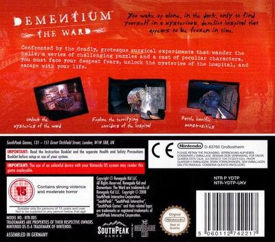 Dementium - The Ward DS backM (YDTP)