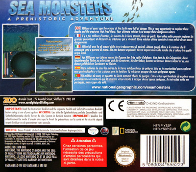 Sea Monsters - A Prehistoric Adventure DS backM (YS3P)